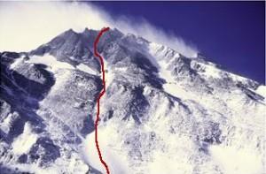 Vägen ner på skidor