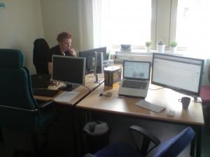 """Vårat otroligt snygga kontor """"utan"""" sladdar. (Vi hjälpte Jocke)"""