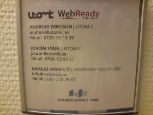 WebReady & Utomic dörrskylt