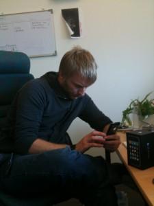 Andreas är i fullgång med att utforska sin pärla