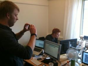 Andreas testar att filma lite