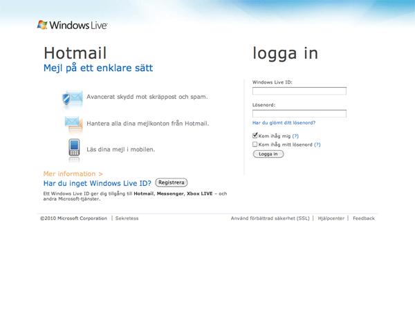 Hotmail.com 2010