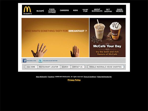 McDonalds.com 2010