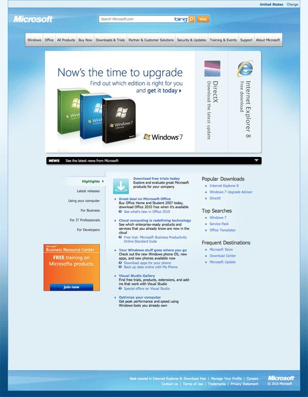 Microsoft.com 2010