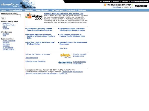 Microsoft.com 2000