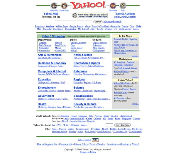 Yahoo.com 2000